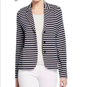 Neiman Marcus Striped black & White Blazer Jacket